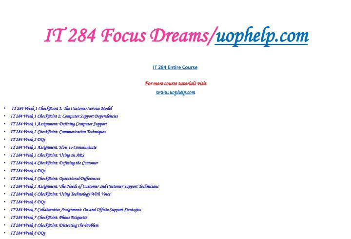 It 284 focus dreams uophelp com2