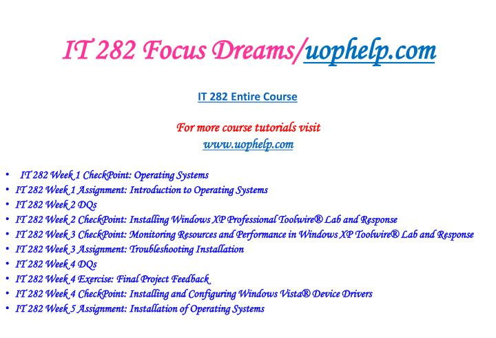 It 282 focus dreams uophelp com2