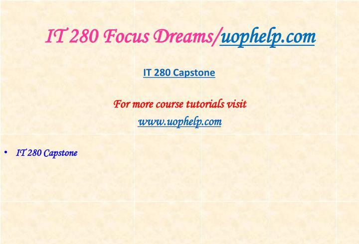 It 280 focus dreams uophelp com1