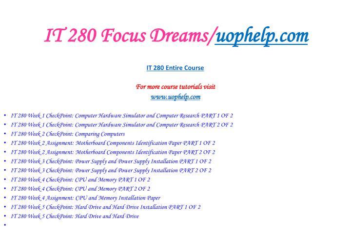 It 280 focus dreams uophelp com2