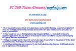 it 260 focus dreams uophelp com6