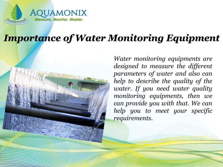 Importance of Water Monitoring Equipment