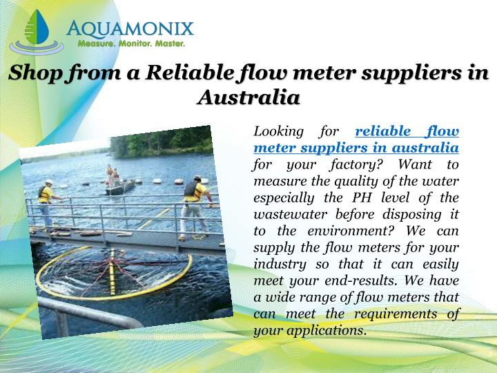 Shop from a Reliable flow meter suppliers in Australia