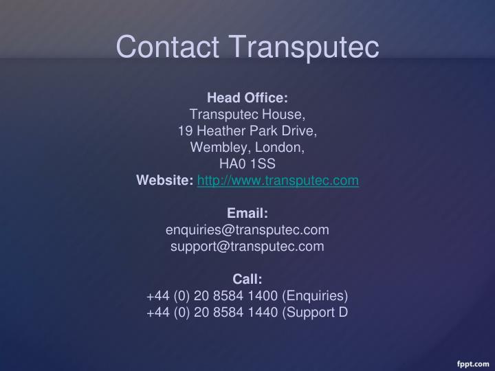 Contact Transputec
