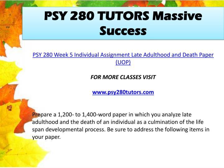 PSY 280 TUTORS Massive Success