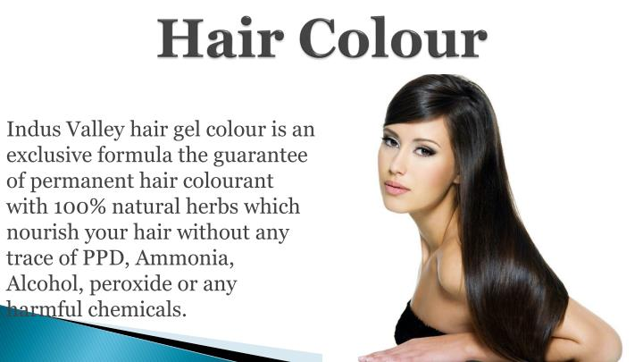 Indus Valley hair gel colour is an exclusive formula the guarantee of permanent hair colourant with 100% natural herbs which nourish your hair without any trace of PPD, Ammonia, Alcohol, peroxide or any harmful chemicals.