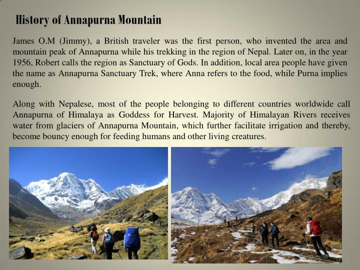 History of Annapurna Mountain