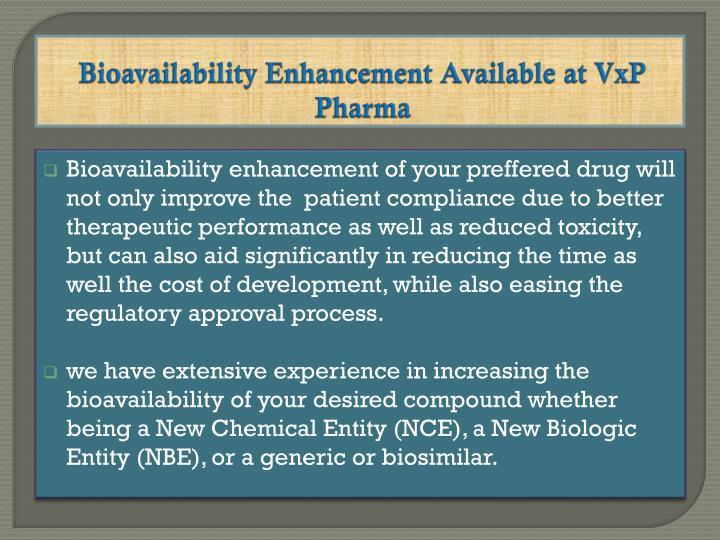 Bioavailability EnhancementAvailable at