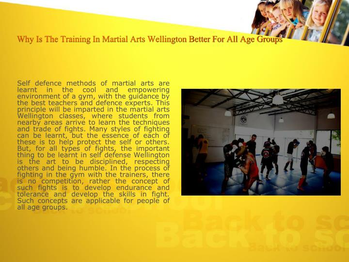 Why is the training in martial arts wellington better for all age groups