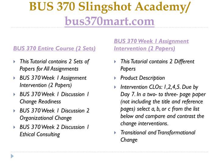 Bus 370 slingshot academy bus370mart com1