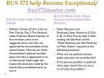 bus 372 help become exceptional bus372master com5