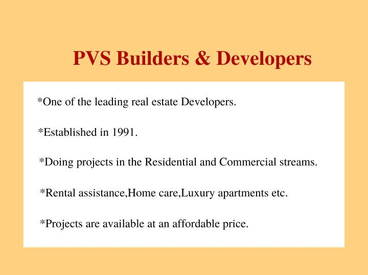 PVS Builders & Developers