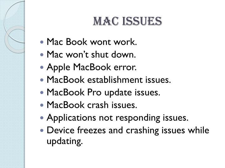 Mac issues