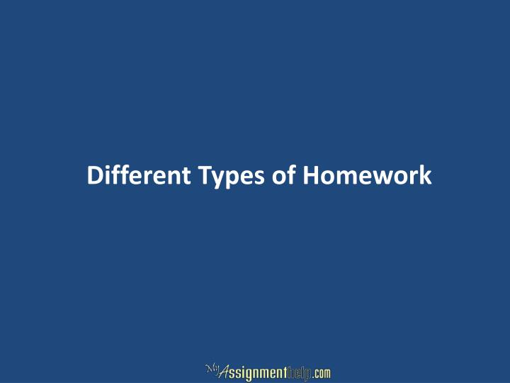 Different Types of Homework