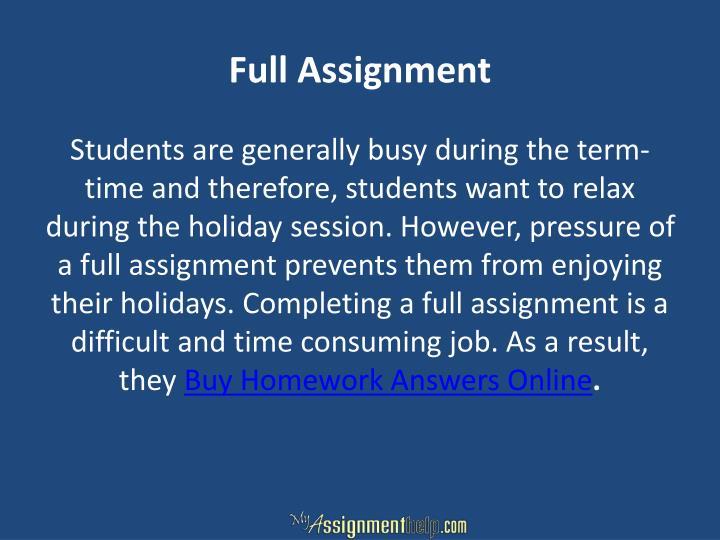 Full Assignment