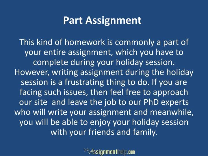 Part Assignment