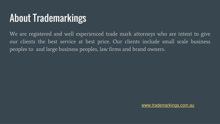 About trademarkings