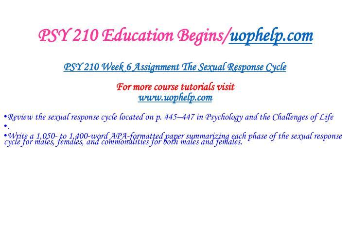 PSY 210 Education Begins/