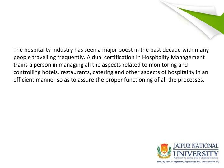 The hospitality industry has seen a major boost in the past decade with many people travelling frequ...