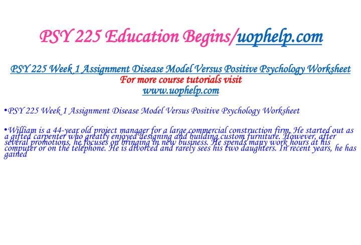 Psy 225 education begins uophelp com2