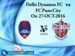 delhi dynamos fc vs fc pune city on 27 oct 2016