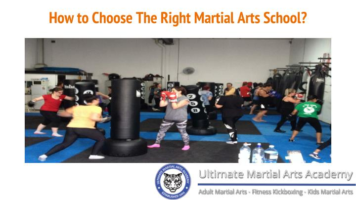 How to choose the right martial arts school