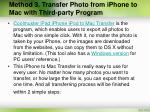 method 3 transfer photo from iphone to mac with third party program