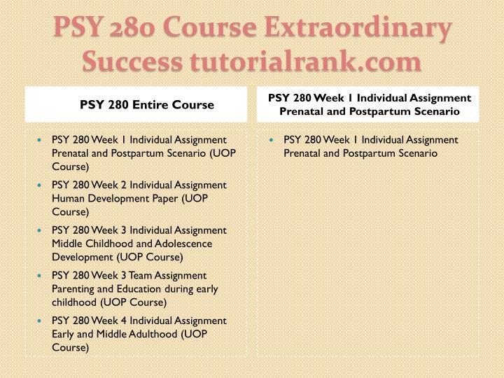 Psy 280 course extraordinary success tutorialrank com1