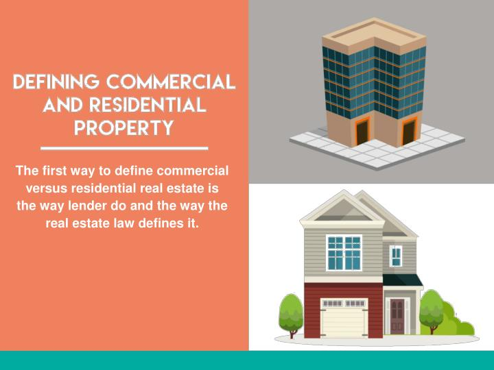 The first way to define commercial