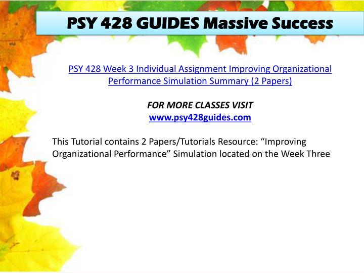 PSY 428 GUIDES Massive Success