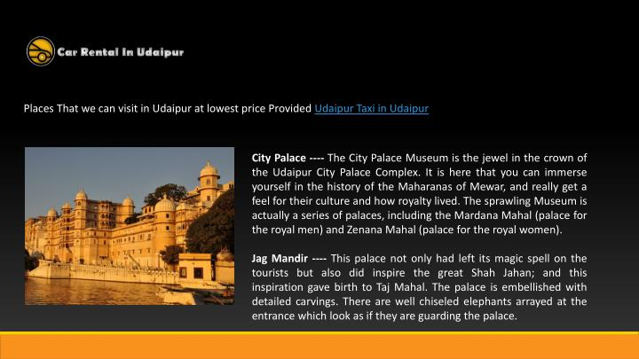 Places That we can visit in Udaipur at lowest price Provided