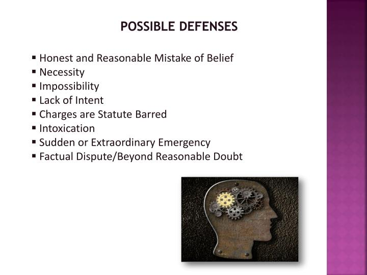 possible defenses