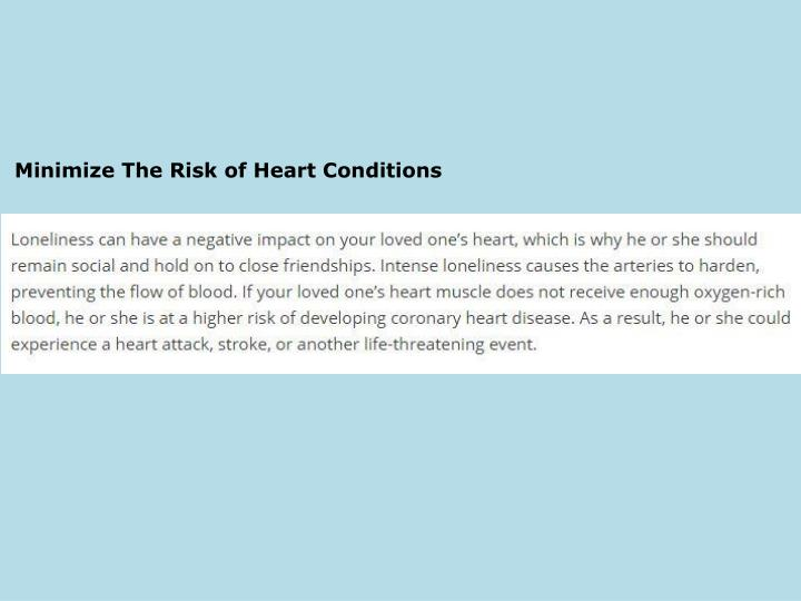 Minimize The Risk of Heart Conditions