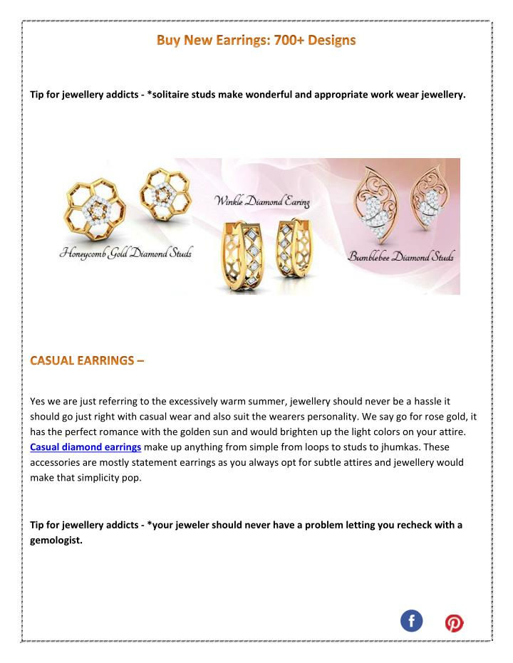 Tip for jewellery addicts - *solitaire studs make wonderful and appropriate work wear jewellery.