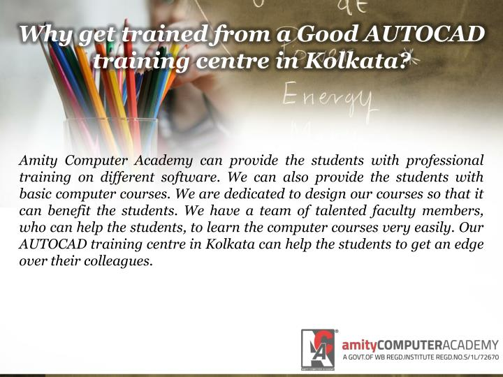 Why get trained from a good autocad training centre in kolkata