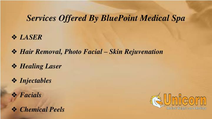 Services offered by bluepoint medical spa