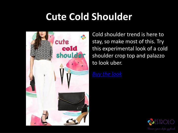 Cute Cold Shoulder