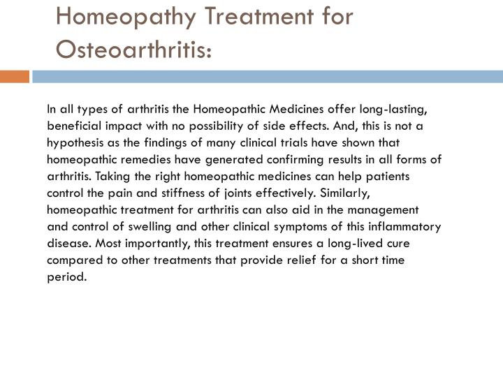 Homeopathy Treatment for