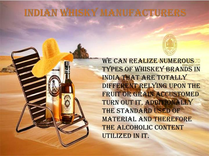 Indian Whisky Manufacturers