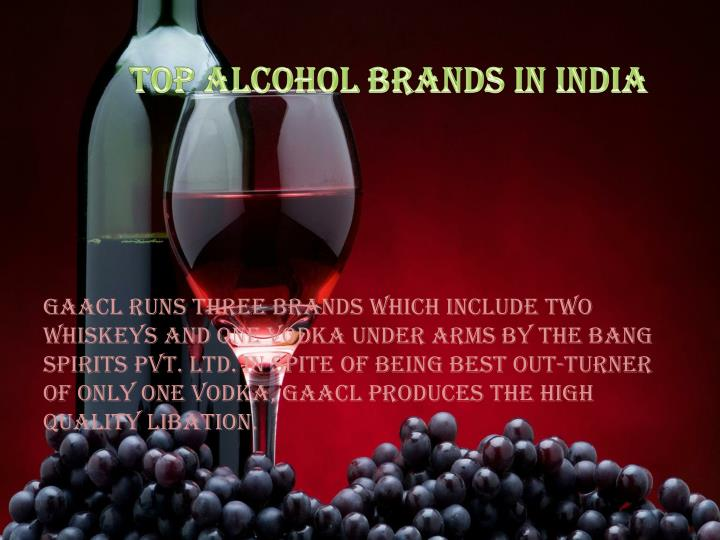 Top Alcohol Brands in India