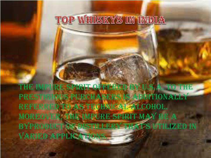 Top Whiskys in India