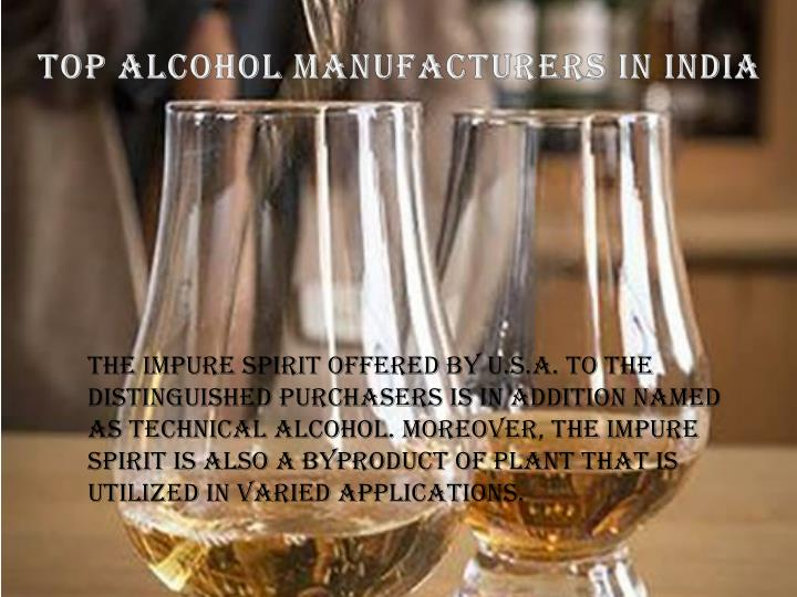 Top Alcohol Manufacturers in India