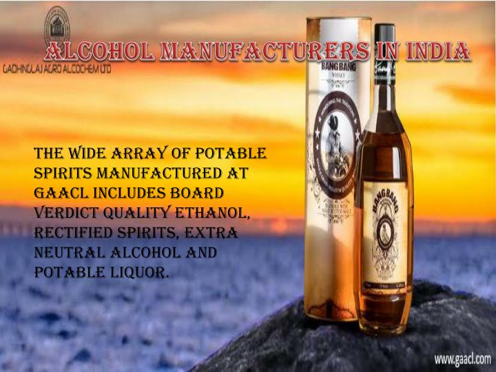 Alcohol Manufacturers in India
