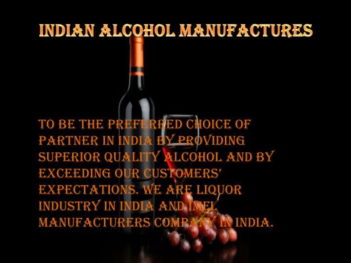 Indian Alcohol Manufactures