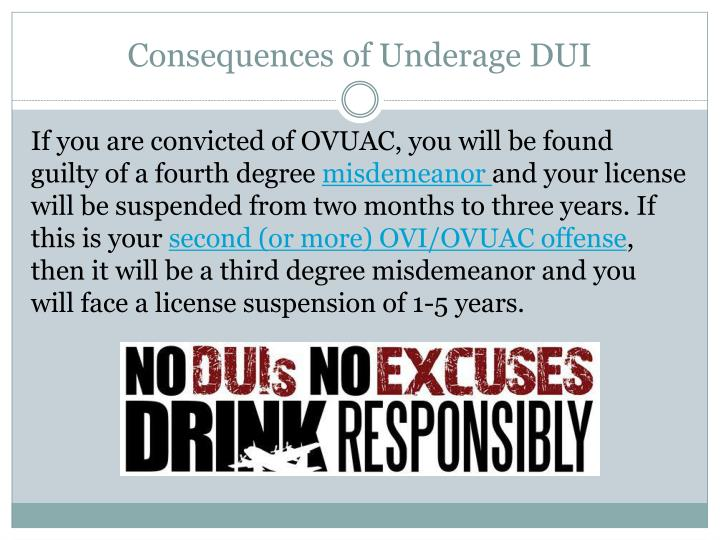 Consequences of Underage DUI