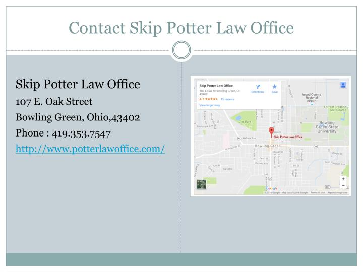 Contact Skip Potter Law Office