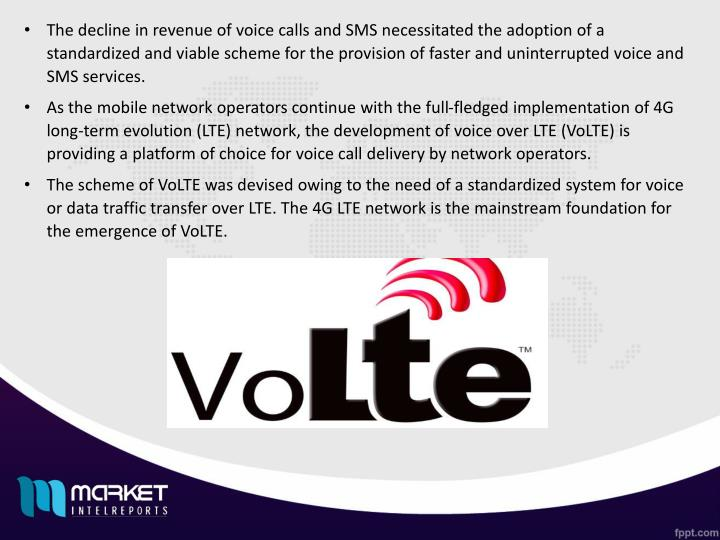 The decline in revenue of voice calls and SMS necessitated the adoption of a standardized and viable...