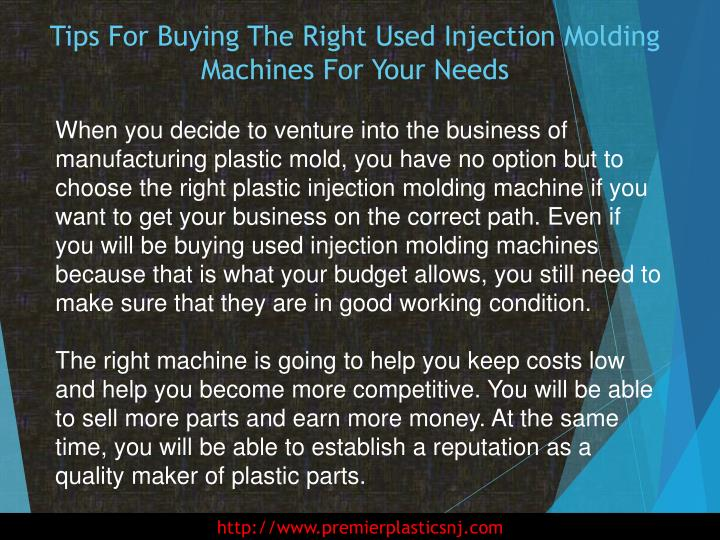 Tips for buying the right used injection molding machines for your needs1
