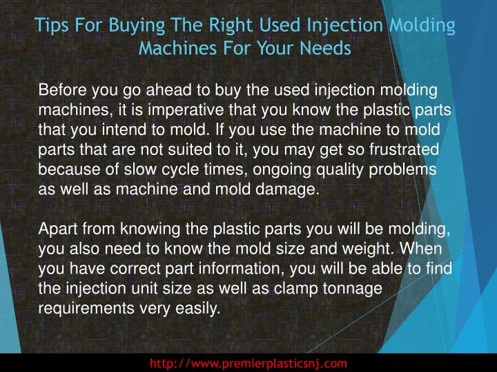 Tips for buying the right used injection molding machines for your needs2