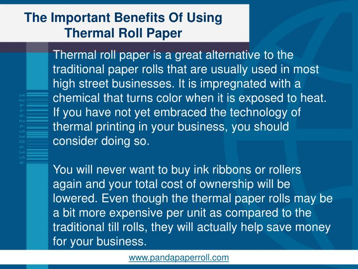 The important benefits of using thermal roll paper1